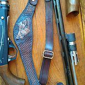 Аксессуары handmade. Livemaster - original item The belt of the hunter, rifle, carbine genuine leather. Handmade.