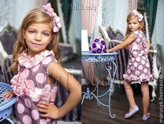 Одежда для девочек, ручной работы. Ярмарка Мастеров - ручная работа. Купить Алисия-1. Handmade. Кремовый, платье летнее