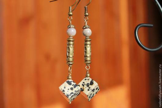 """Серьги ручной работы. Ярмарка Мастеров - ручная работа. Купить Серьги """"Случай на охоте"""". Handmade. Серьги, серьги с камнями"""