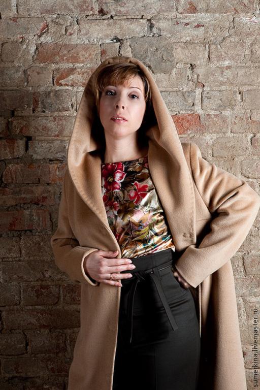 Верхняя одежда ручной работы. Ярмарка Мастеров - ручная работа. Купить Женское пальто осень, весна. Handmade. Бежевый