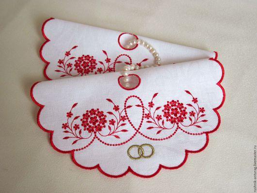 Салфетки для венчания, Салфетки с вышивкой,  Свадебный рушник, Рушник на свадьбу,  Рушник для венчания, Венчальный рушник,  Венчальный набор