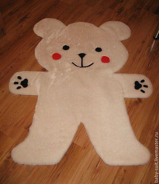 Детский коврик Белый мишка для малышей и детей