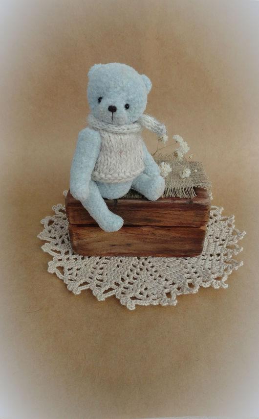 Мишки Тедди ручной работы. Ярмарка Мастеров - ручная работа. Купить Павлик. Handmade. Голубой, пряжа