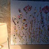 Картины и панно handmade. Livemaster - original item Wild white roses buy pastel pink blue painting. Handmade.