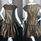 Одежда ручной работы. Ярмарка Мастеров - ручная работа Платье бронзовое Тиффани. Handmade.