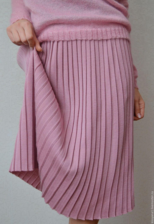 Вязаная юбка плиссировка