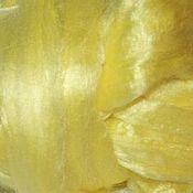 Материалы для творчества ручной работы. Ярмарка Мастеров - ручная работа Волокна вискозы. 25 гр. Лимонный. Волокна для декора.. Handmade.