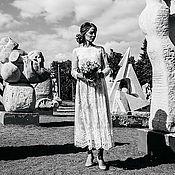 Свадебный салон ручной работы. Ярмарка Мастеров - ручная работа Свадебное платье  с рукавами. Handmade.