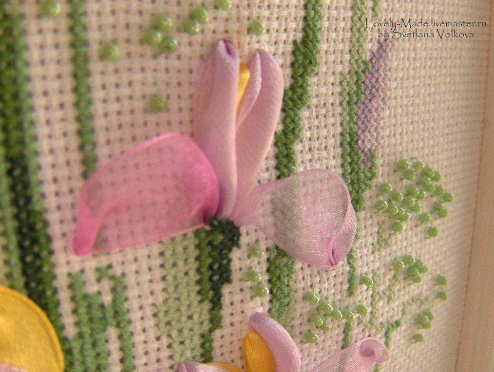Картины вышивка с бисером и нитками