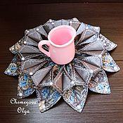 Для дома и интерьера ручной работы. Ярмарка Мастеров - ручная работа Объемная салфетка - украшение. Handmade.