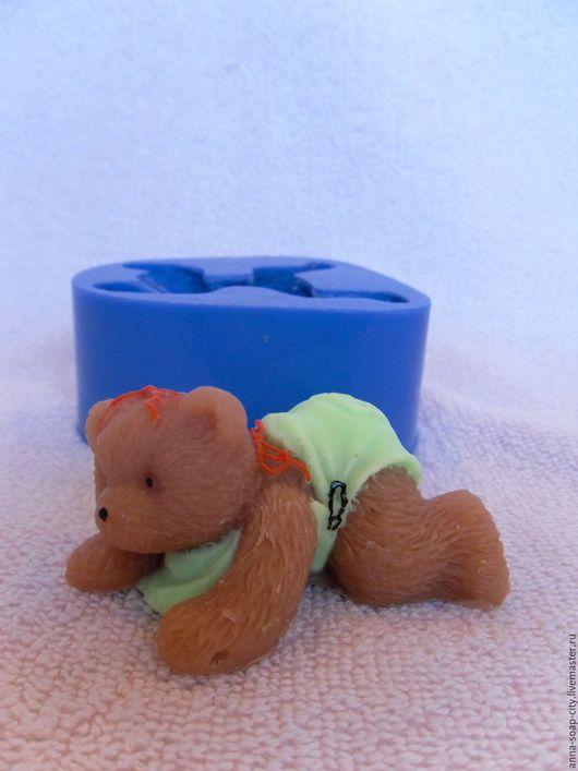 """Другие виды рукоделия ручной работы. Ярмарка Мастеров - ручная работа. Купить Силиконовая форма для мыла """"Мишка Тедди малыш"""". Handmade."""