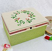 Для дома и интерьера handmade. Livemaster - original item The box is covered with hand-embroidered