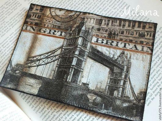 обложка, обложки, обложки декупаж, обложка на паспорт, обложка ручной работы, обложка для паспорта, обложка Лондон, обложка Британия, Великобритания, обложка в подарок, купить обложку в Москве, обложк