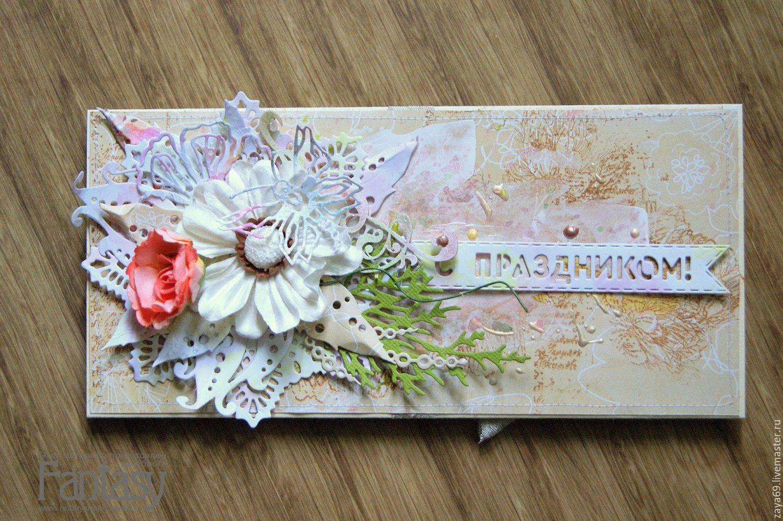 Подарок на свадьбу. Конверт для денег в технике скрапбукинг