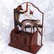 Канцелярские товары handmade. Livemaster - original item Perpetual calendar Cat relax. Handmade.