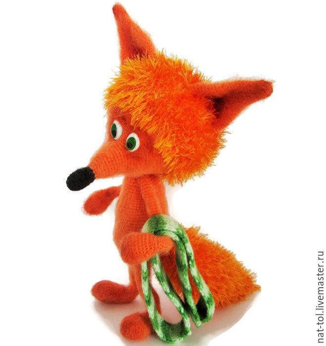 Crochet toy crochet Fox Red means beautiful! Orange, Stuffed Toys, Dmitrovsk-Orlovsky,  Фото №1
