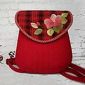 Рюкзаки ручной работы. Ярмарка Мастеров - ручная работа Рюкзачок городской красный Суданская роза. Handmade.