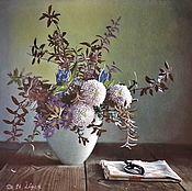 Картины и панно handmade. Livemaster - original item Pattern: Autumn flowers. Handmade.