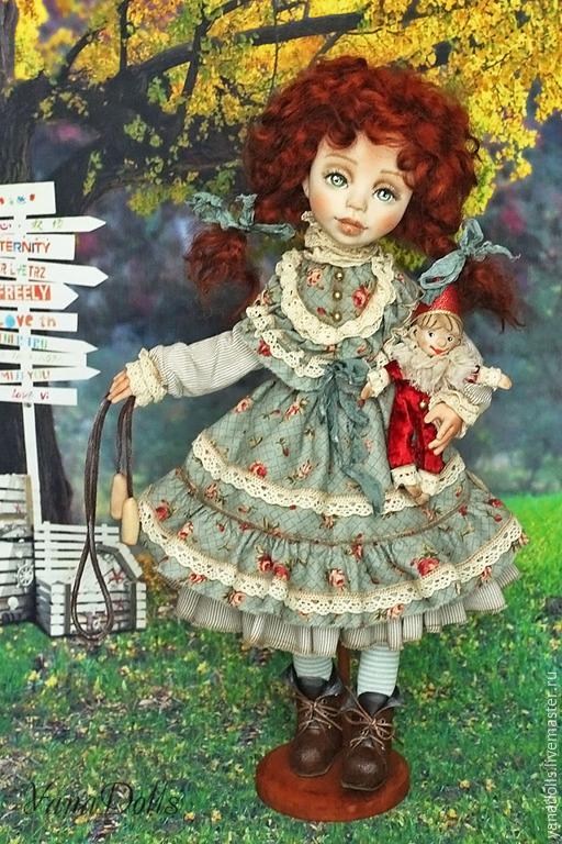 Коллекционные куклы ручной работы. Ярмарка Мастеров - ручная работа. Купить Давай поиграем?. Handmade. Рыжий, игрушки, запекаемый пластик