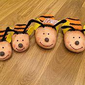 """Обувь ручной работы. Ярмарка Мастеров - ручная работа Тапки женские  """"Пчела"""".  Тапочки валяные женские. Handmade."""