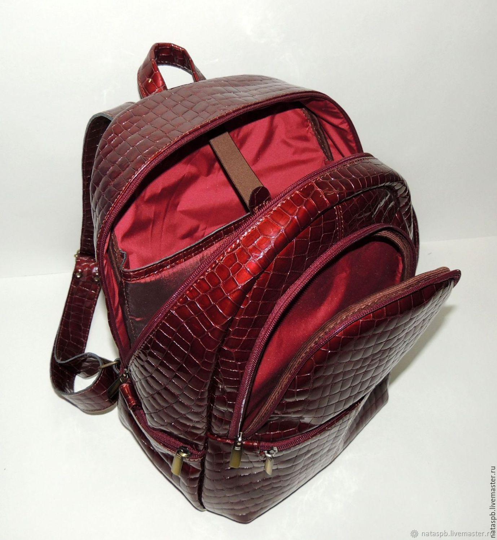 47bdbc45006f Livemaster Backpacks handmade. Burgundy women s leather backpack   Beaujolais . Natalia Kalinovskaya. My Livemaster Backpacks handmade.