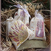 """Сувениры и подарки ручной работы. Ярмарка Мастеров - ручная работа Ароматическое саше """"С лавандой"""". Handmade."""