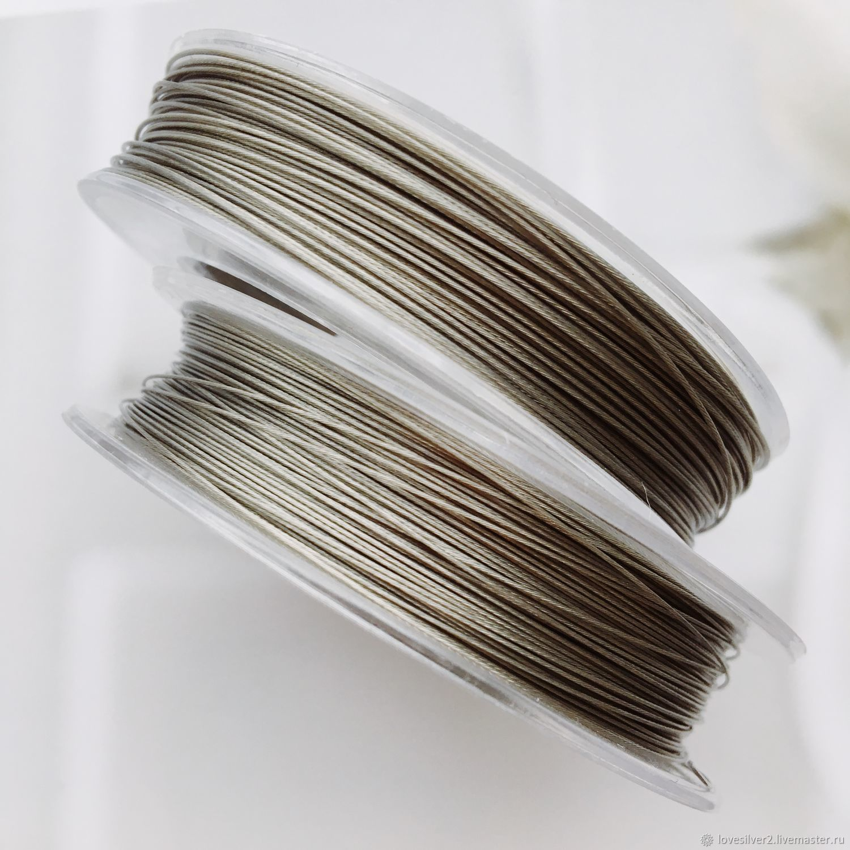 ТРОСИК ювелирный 100м Tiger Tail 0.35 и 0.45 Цвет Clear, Шнуры, Москва,  Фото №1