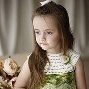 Работы для детей, ручной работы. Ярмарка Мастеров - ручная работа Платье для девочки вязаное крючком Лотос. Handmade.