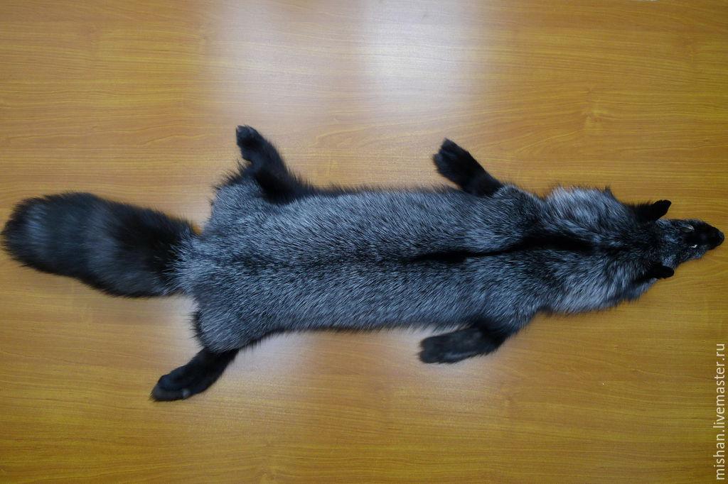 Charmant Order Skins Silver Fox. The Black Fox Fur Tanned.