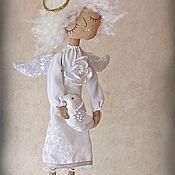 """Куклы и игрушки ручной работы. Ярмарка Мастеров - ручная работа """"Ангел с доброй весточкой"""" - авторская кофейная куколка. Handmade."""