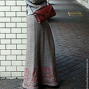 Одежда ручной работы. Ярмарка Мастеров - ручная работа Юбка Северные Олени. Handmade.