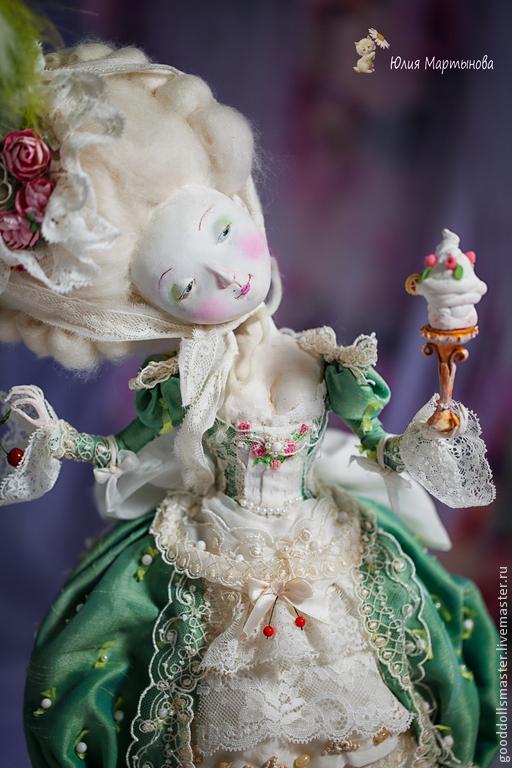 """Коллекционные куклы ручной работы. Ярмарка Мастеров - ручная работа. Купить """"Дама с вишенкой"""". Handmade. Кукла, красота, ткань"""