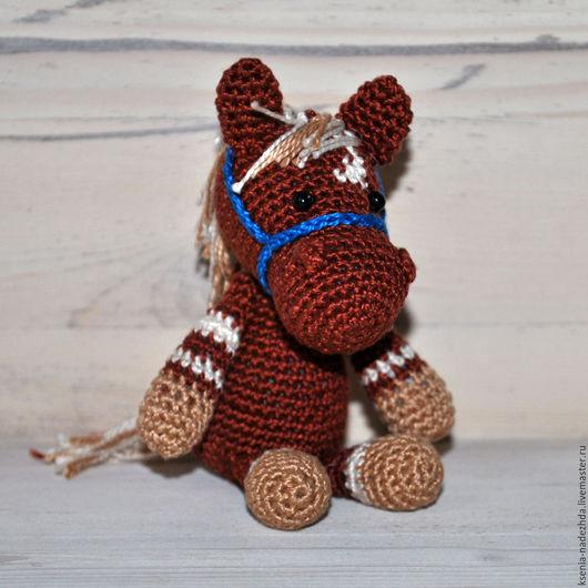 Игрушки животные, ручной работы. Ярмарка Мастеров - ручная работа. Купить Вязаная крючком игрушка лошадка-малышка. Handmade.
