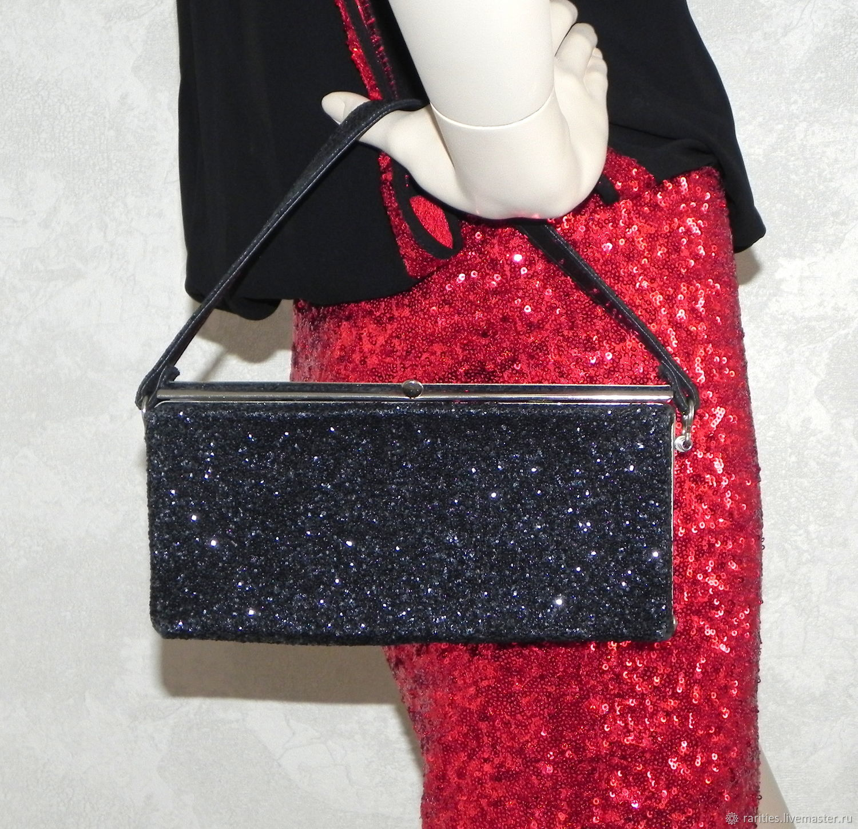 Handbag Magic of the night, USA, ,60s, glitter,evening, black, Vintage bags, Moscow,  Фото №1
