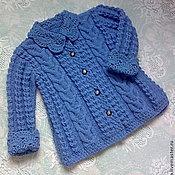 Работы для детей, handmade. Livemaster - original item Coat-cardigan for girls