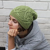 Аксессуары ручной работы. Ярмарка Мастеров - ручная работа Вязаная шапка Хризолит , вязаную шапку купить. Handmade.