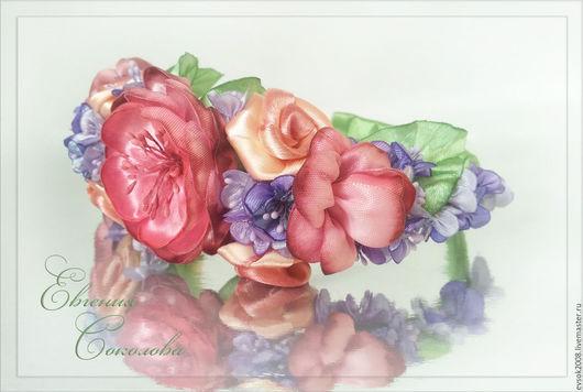 Диадемы, обручи ручной работы. Ярмарка Мастеров - ручная работа. Купить Ободок с цветами Предчувствие весны. Handmade. Весенние цветы