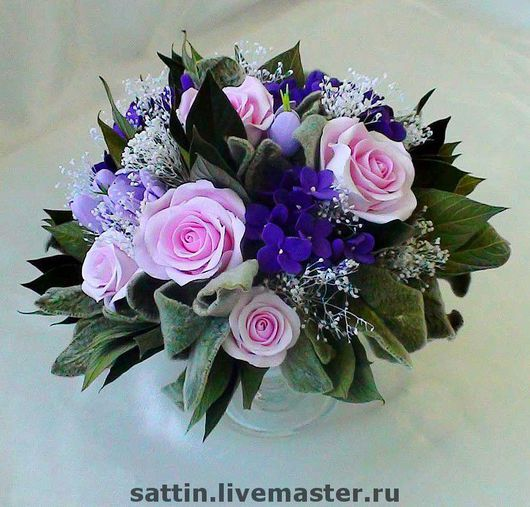 """Интерьерные композиции ручной работы. Ярмарка Мастеров - ручная работа. Купить """"Мечта из роз"""" - букет из роз. Handmade. Декор для интерьера"""