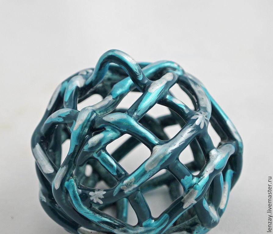 Christmas balls. Ceramics. Woven ceramics Elena Zaichenko