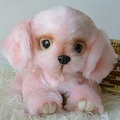 """Куклы и игрушки ручной работы. Ярмарка Мастеров - ручная работа Розовый щенок-тедди """"Ягодка"""". Handmade."""