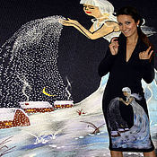 Платья ручной работы. Ярмарка Мастеров - ручная работа Зимнее платье, зимнее вязаное платье, женское вязаное платье.. Handmade.
