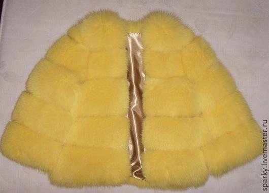 """Верхняя одежда ручной работы. Ярмарка Мастеров - ручная работа. Купить Шуба из песца """"Желтый бриллиант"""". Handmade. Желтый"""