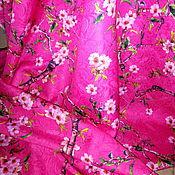 """Ткани ручной работы. Ярмарка Мастеров - ручная работа Жаккард """"Сакура"""" розовый.. Handmade."""