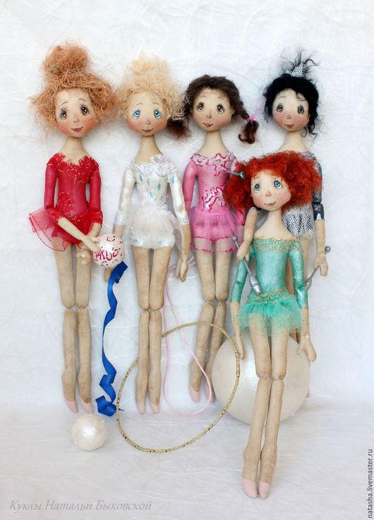 Человечки ручной работы. Ярмарка Мастеров - ручная работа. Купить Куколки ГИМНАСТКИ. Handmade. Комбинированный, художественная гимнастика, холлофайбер, корица