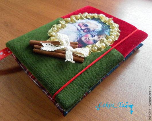 Блокноты ручной работы. Ярмарка Мастеров - ручная работа. Купить Блокнот Запах Рождества. Handmade. Блокнот, зеленый, бумага