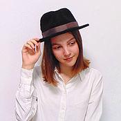 Аксессуары handmade. Livemaster - original item Black hat