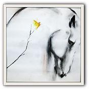 Картины и панно ручной работы. Ярмарка Мастеров - ручная работа Картина лошадь Мечты, мечты. Handmade.