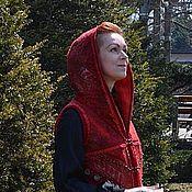 """Одежда ручной работы. Ярмарка Мастеров - ручная работа Авторский валяный жилет с капюшоном """"Modern Gypsy Queen"""". Handmade."""