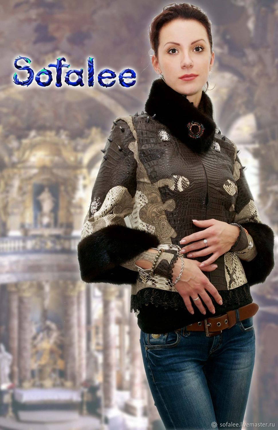 Outer Clothing handmade. Livemaster - handmade. Buy Jacket Bracers made of crocodile Python, leather-print, mink fur.