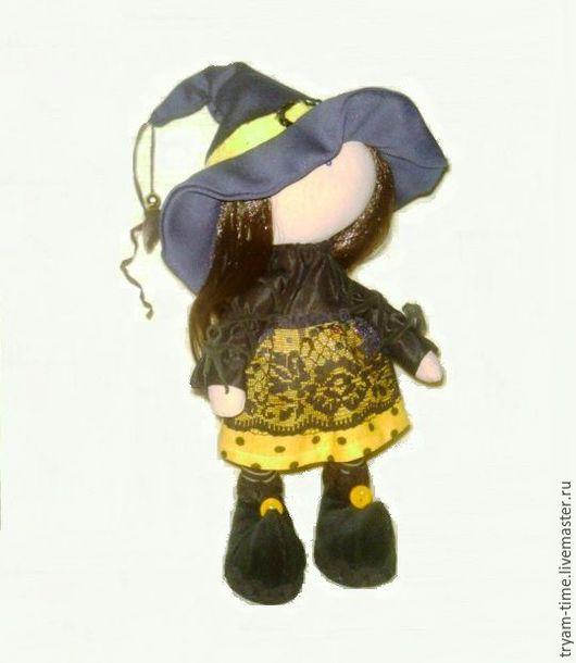 Куклы тыквоголовки ручной работы. Ярмарка Мастеров - ручная работа. Купить Кукла ведьмочка Янина. Handmade. Подарок на Хэллоуин, Хэллоуин